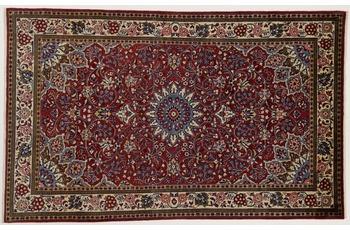 Oriental Collection Teppich, Sarough, Perser-Teppich, handgeknüpft, reine Schurwolle, florale Ornamentik, 130 x 210 cm