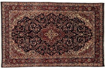 Oriental Collection Teppich, Sarough, Perser-Teppich, handgeknüpft, reine Schurwolle, florale Ornamentik, 133 x 210 cm