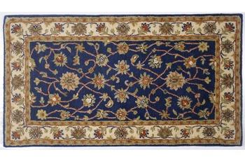Oriental Collection Teppich Royal Ziegler, 503, blue /  cream 190 cm rund