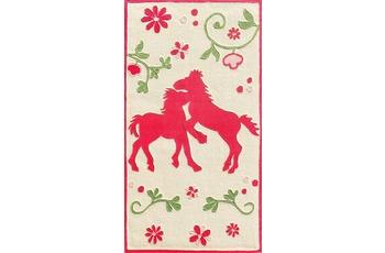 Pferdefreunde Pferde Teppich hell