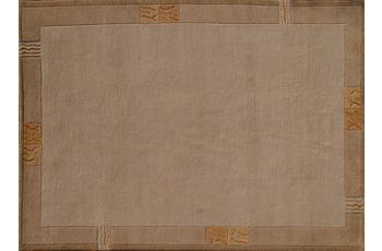 Nepal Teppich, Rama, 322, beige, reine Schurwolle, handgekn�pft, 10 mm Florh�he, reine Schurwolle, h