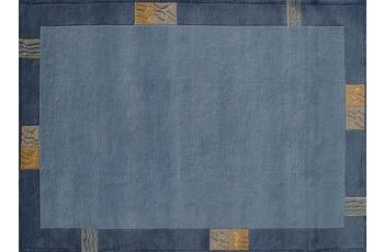 Nepal Teppich, Rama, 322, blau, reine Schurwolle, handgekn�pft, 10 mm Florh�he