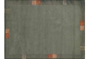 Nepal Teppich, Rama, 322, grün, reine Schurwolle, handgeknüpft, 10 mm Florhöhe
