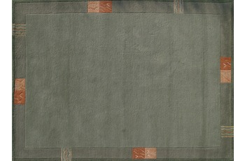 Nepal Teppich, Rama, 322, gr�n, reine Schurwolle, handgekn�pft, 10 mm Florh�he