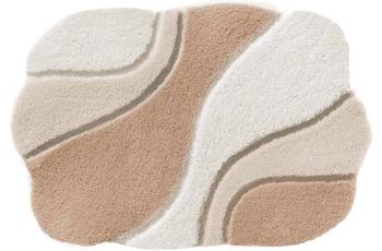 Rhomtuft Badteppich AMBIENTE ecru/ beige/ walnuss 65 cm x 110 cm