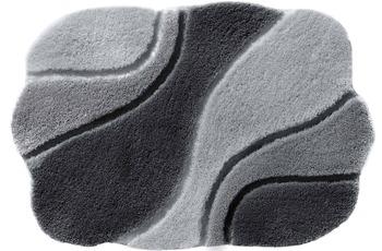 Rhomtuft Badteppich AMBIENTE perlgrau/ blei/ zink 65 cm x 110 cm