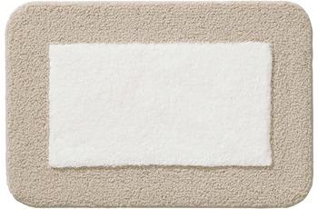 Rhomtuft Badteppich CULT ecru/ creme 65 cm x 110 cm