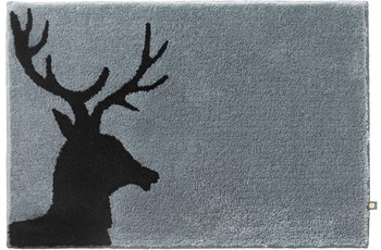 Rhomtuft Badteppich LORD blei/ schwarz 65 cm x 110 cm
