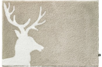 Rhomtuft Badteppich LORD creme/ ecru 65 cm x 110 cm