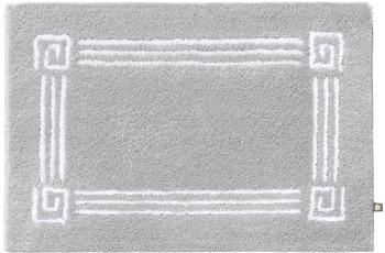 Rhomtuft Badteppich OLYMP perlgrau/ weiss 65 cm x 110 cm