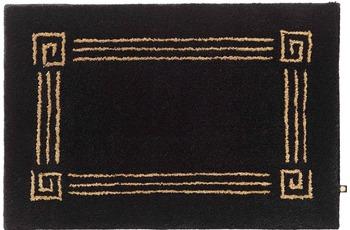 Rhomtuft Badteppich OLYMP schwarz/ goldlurex 65 cm x 110 cm