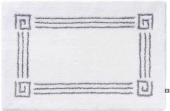 Rhomtuft Badteppich OLYMP weiss/ perlgrau 65 cm x 110 cm
