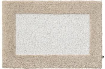 Rhomtuft Badteppich ORIGO ecru/ creme 65 cm x 110 cm