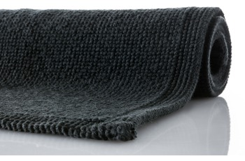 Rhomtuft Badteppich PLAIN  schwarz
