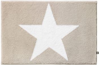 Rhomtuft Badteppich STAR stone/ weiss