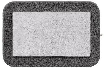 Rhomtuft Badteppich CULT silbergrau/ zink 65 cm x 110 cm