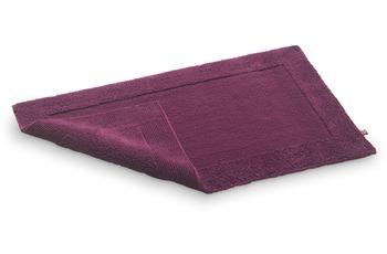 Rhomtuft Badteppich, Prestige, brombeer, aus reiner Baumwolle, beidseitig verwendbar