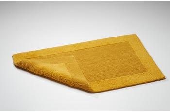 Rhomtuft Badteppich, Prestige, curry, aus reiner Baumwolle, beidseitig verwendbar