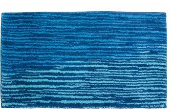 Schöner Wohnen Badteppich Mauritius Des. 003 Col. 020 Streifen blau 60 cm x 60 cm