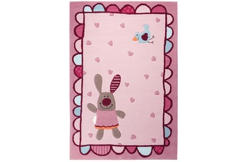 Sigikid Kinder Teppich, 3 Happy Friends, Hearts SK-3350-01 rosa/ pink