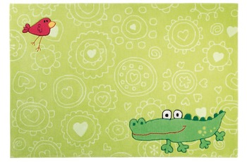 Sigikid Kinder-Teppich, Happy Zoo, Crocodile SK-3341 gr�n