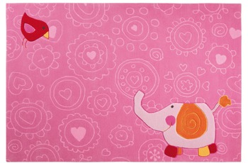Sigikid Kinder-Teppich Happy Zoo Elephant SK-3342-01 rosa/ pink 140 x 200 cm