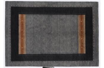 Tadj, Gabbeh Teppich, 234, grau, handgekn�pft mit argentinischer Schurwolle