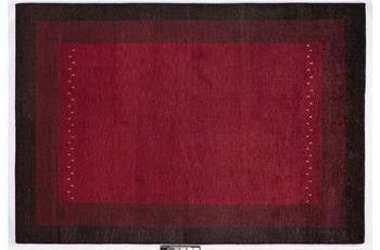Tadj, Gabbeh Teppich, 2921 rot, handgekn�pft mit argentinischer Schurwolle