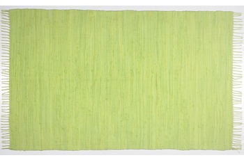 THEKO Teppich Happy Cotton, UNI, green 70cm x 140cm