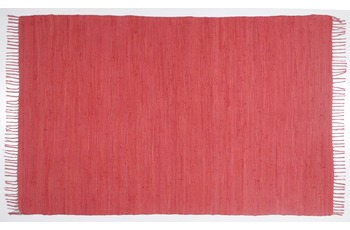 THEKO Teppich Happy Cotton, UNI, red 70cm x 140cm
