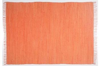 THEKO Teppich Happy Cotton, UNI, terra 70cm x 140cm