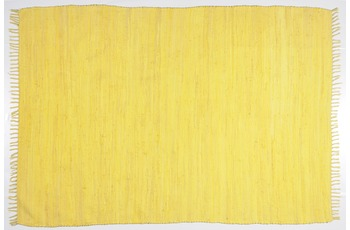 THEKO Teppich Happy Cotton, UNI, yellow 70cm x 140cm