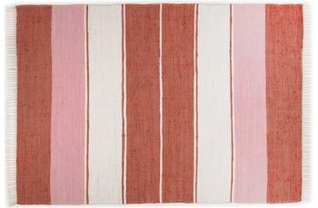 THEKO Teppich Happy Design, Stripes, red 120cm x 180cm