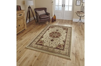 Think Rugs Teppich Heritage 4400 Cream/ Rot