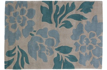 ThinkRugs Hong Kong 33L Beige/ Blue 120 x 170 cm