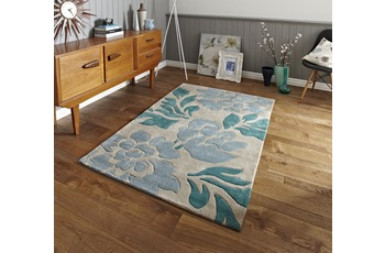 Think Rugs Teppich Hong Kong 33L Beige/ Blau
