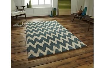 Think Rugs Teppich Hong Kong HK 867 Teal/ Beige