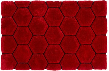 ThinkRugs Teppich Noble House NH30782 Rot/ Schwarz