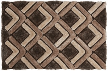 ThinkRugs Teppich Noble House NH8199 Braun