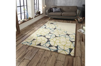 Think Rugs Spectrum SP37 Elfenbein/ Grün/ Blau
