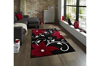 Think Rugs Teppich Verona OC15 Schwarz/ Rot
