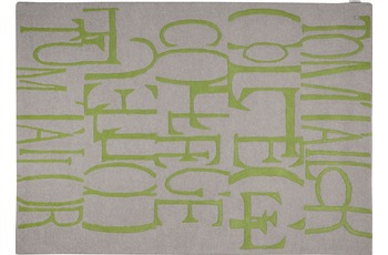 Tom Tailor Home - Letters green 140 x 200 cm