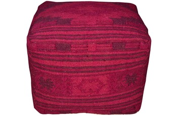 Tom Tailor Pouf Vintage, Kelim Colors I, pink