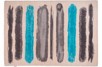 Tom Tailor Teppich Happy, Painted Stripe, türkis multi 65cm x 135cm