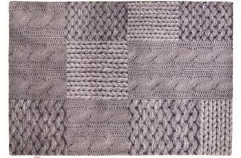 Tom Tailor Teppich Happy, Patchwork Knit, grey 65cm x 135cm