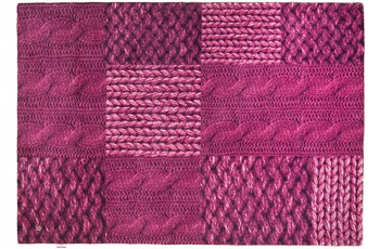 Tom Tailor Teppich Happy, Patchwork Knit, pink 65cm x 135cm