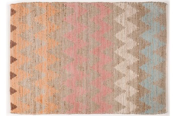 "Tom Tailor Teppich Smooth Comfort ""Pastel Zigzag"", multi 65cm x 135cm"