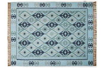 Tom Tailor Teppich Vintage, Kelim Colors II, t�rkis 140cm x 200cm