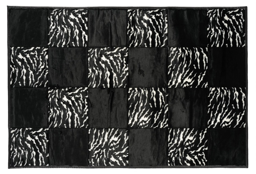Andiamo Teppich Wild Life Zebra schwarz Angebote bei tepg