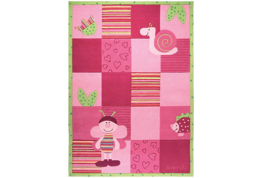 ESPRIT Kinder-Teppich, Bee ESP-2844-01 rosa/pink, Öko-Tex 100 zertifiziert